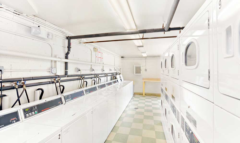 Washington apartments have a large on-site laundry facility