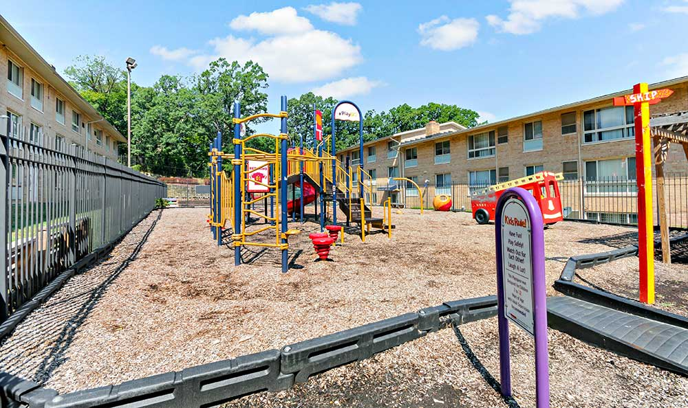 Washington apartments play area