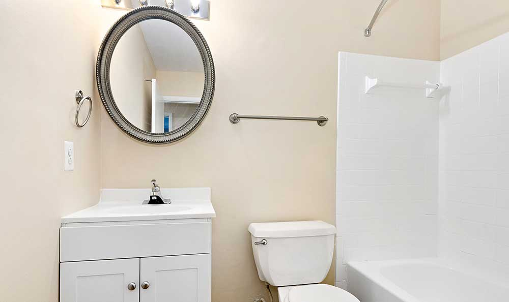 Upgraded bathroom at EastView Communities