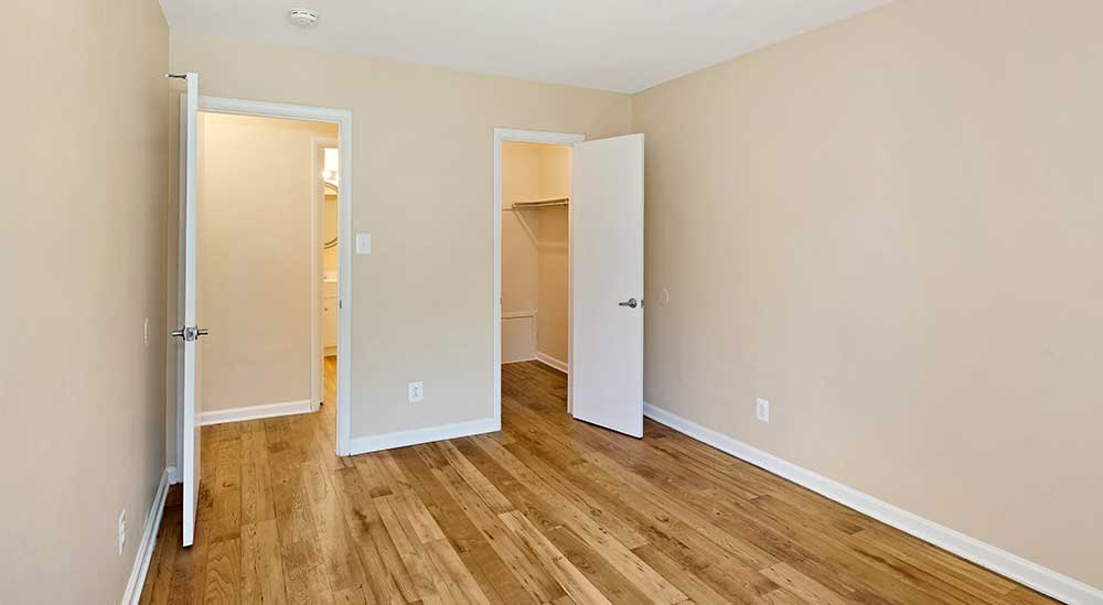 Bedroom closet at EastView Communities