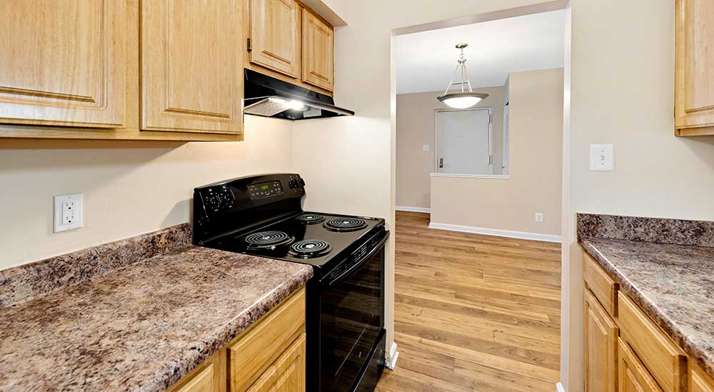 EastView Communities kitchen with hardwood floors