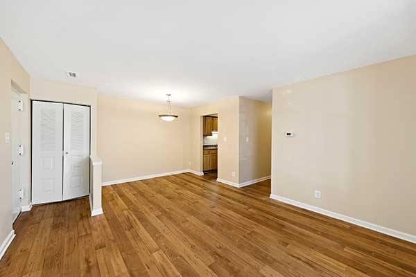 EastView Communities living areas with hardwood floors