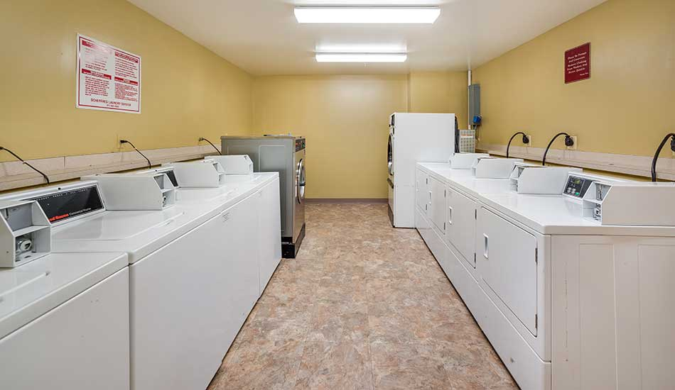 Laundry facility at Edmondson Commons