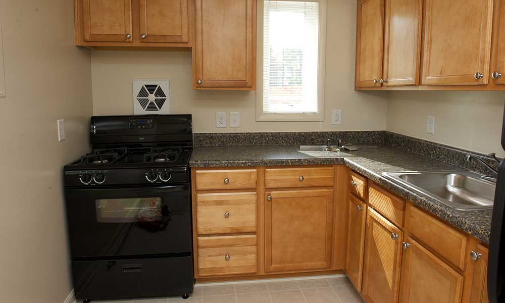 Black appliances at our Lanham apartments