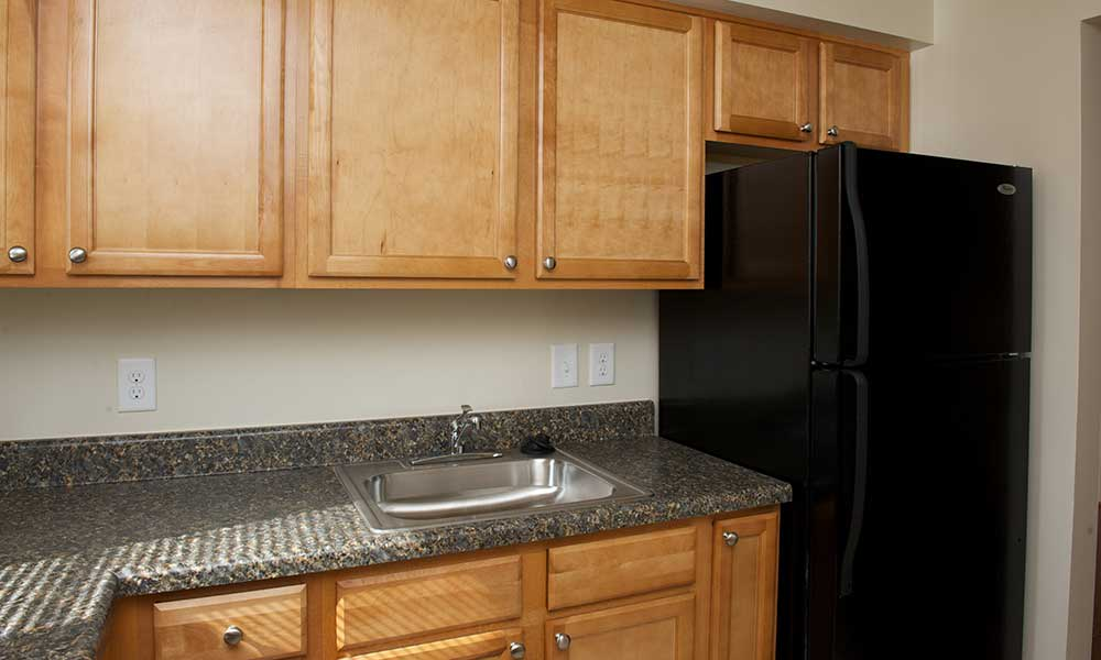 Kitchen filled with natural light at our Lanham apartments