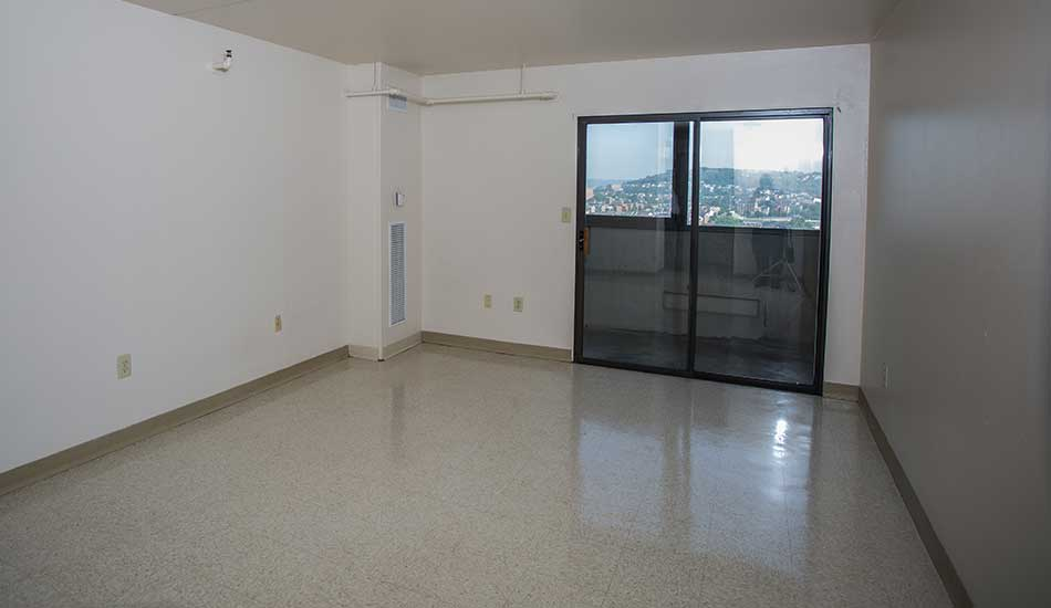 Linoleum floors at Gateway Plaza