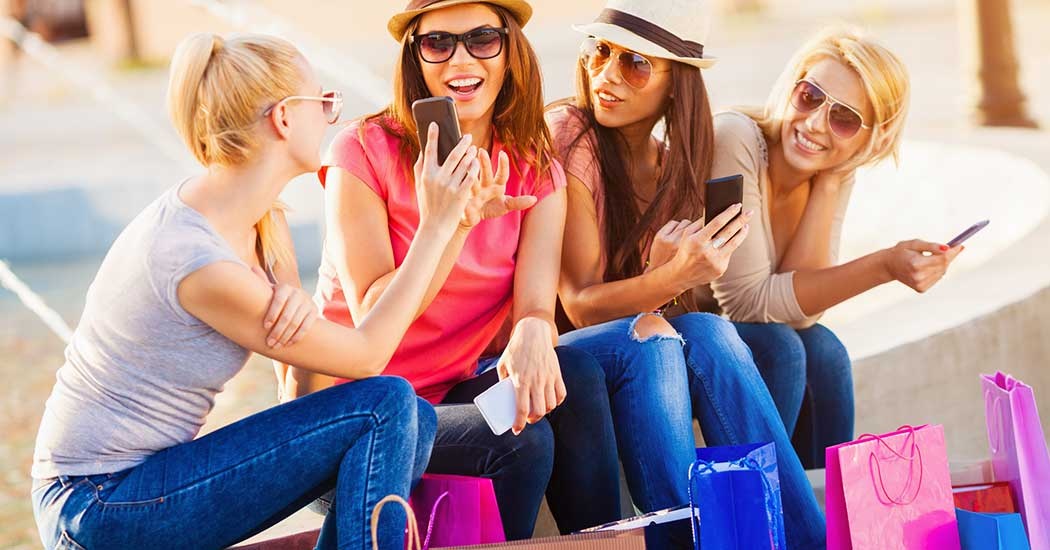 Girls shopping near The Larkspur