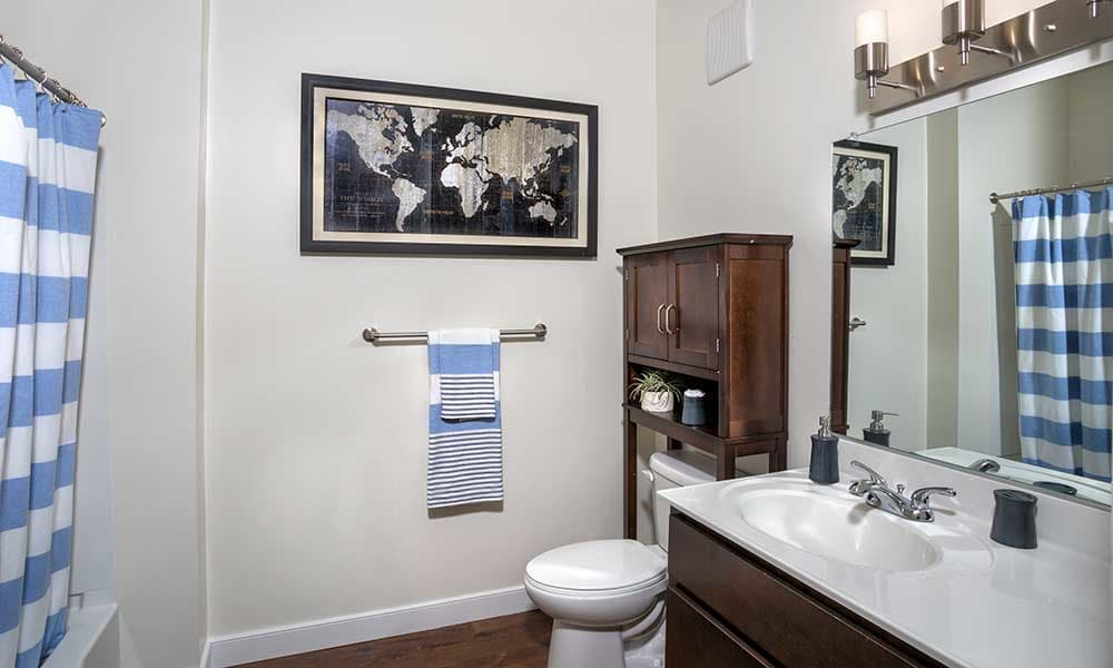 Apartment bathroom in Washington, DC