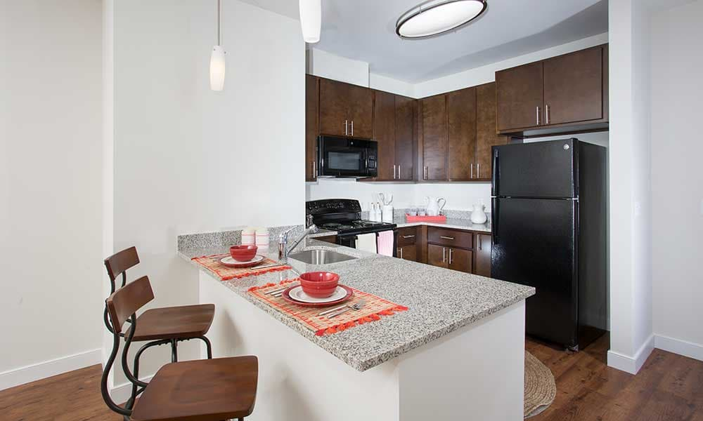 The Grove at Parkside offers granite countertops
