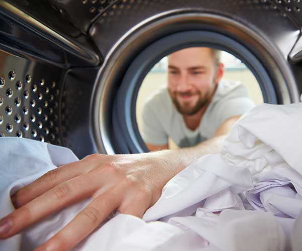 Each building at Stony Brook Apartments has its own laundry facility