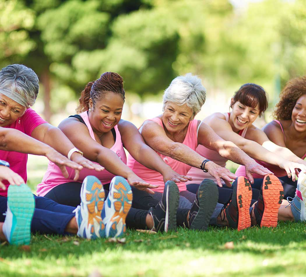 Women exercising at Pleasant Homes Apartments