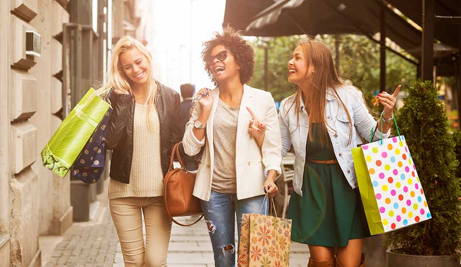 Women shopping near Park Montgomery