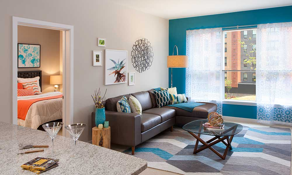 Open concept floor plans at Park 7 Apartments in Washington