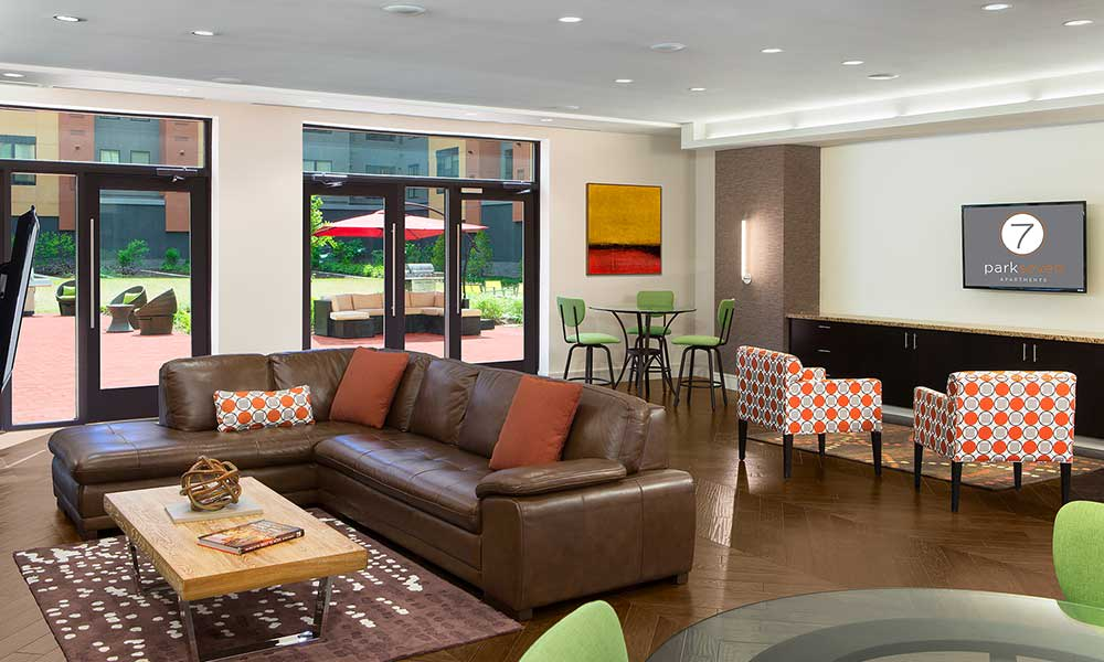 Community clubhouse at Park 7 Apartments in Washington