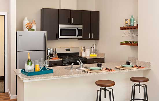 Park 7 Apartments upgraded kitchen