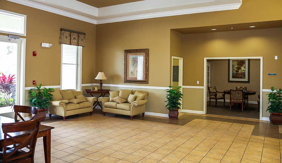 Leasing office at The Oaks at Riverview