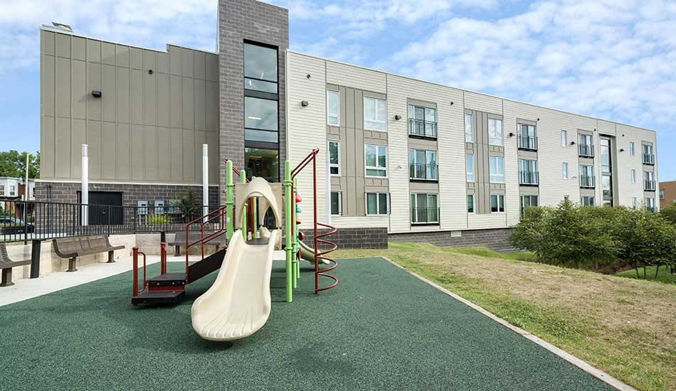 Playground area at North Avenue Gateway