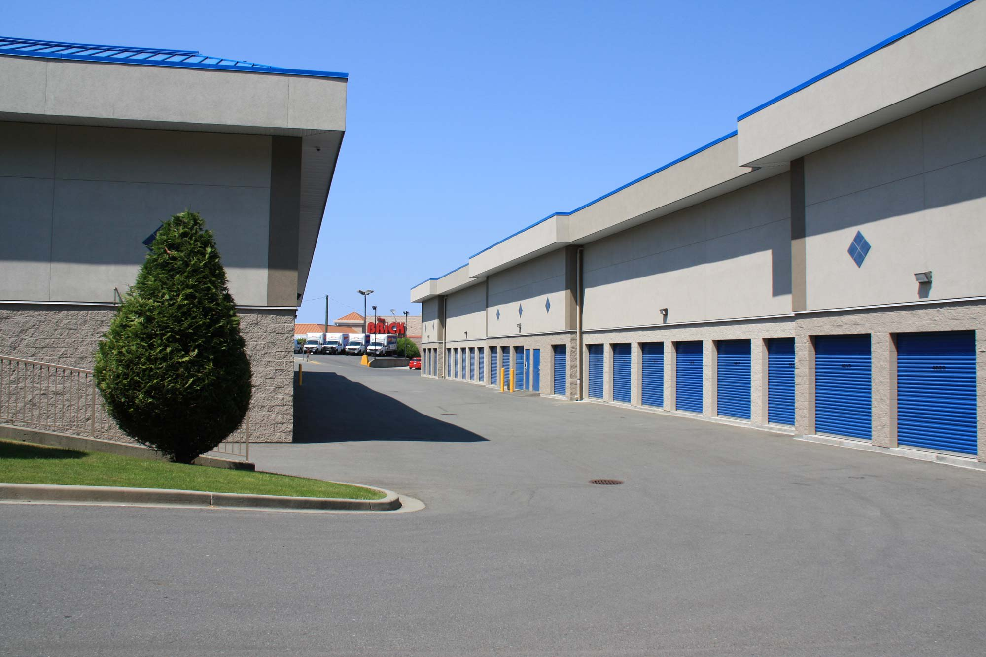 Exterior storage is available at Budget Self Storage