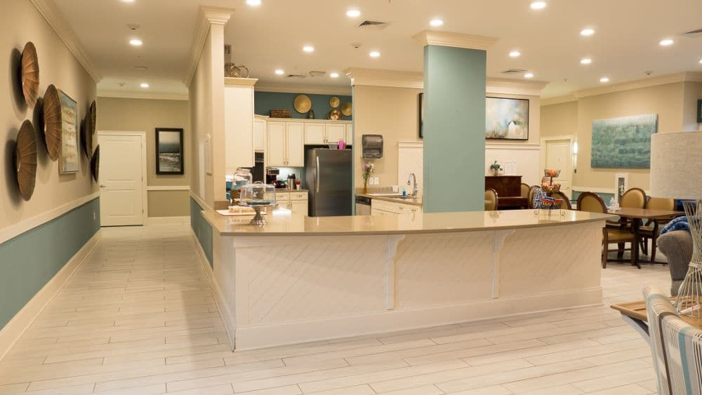Main kitchen at Creekside At Three Rivers Assisted Living in Murfreesboro