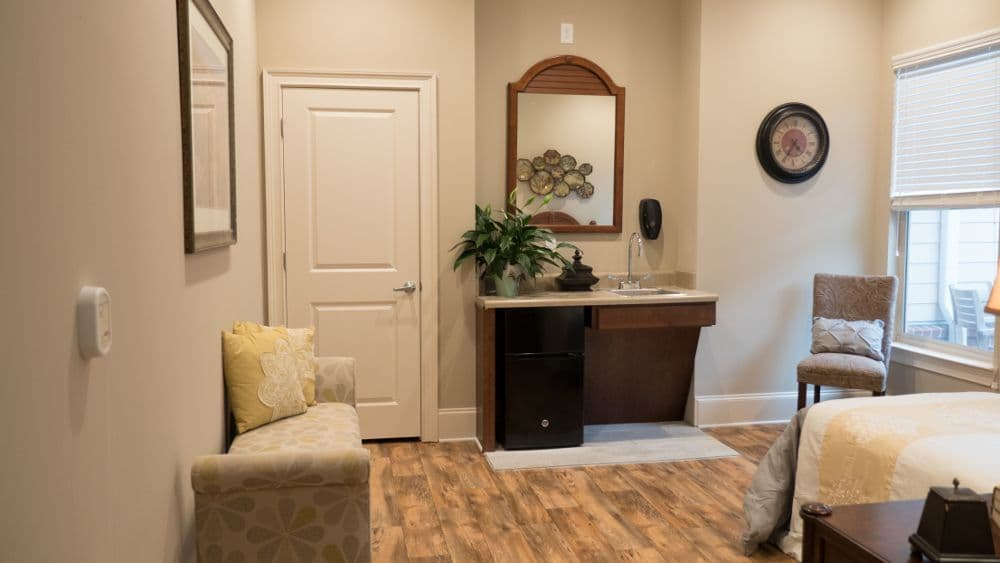 Community room at Creekside At Three Rivers Assisted Living in Murfreesboro
