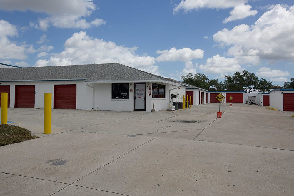 View of American Personal Storage in Port St Lucie within gate
