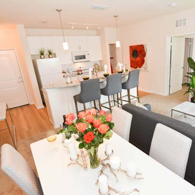 Gorgeously decorated model home at The Gate Apartments