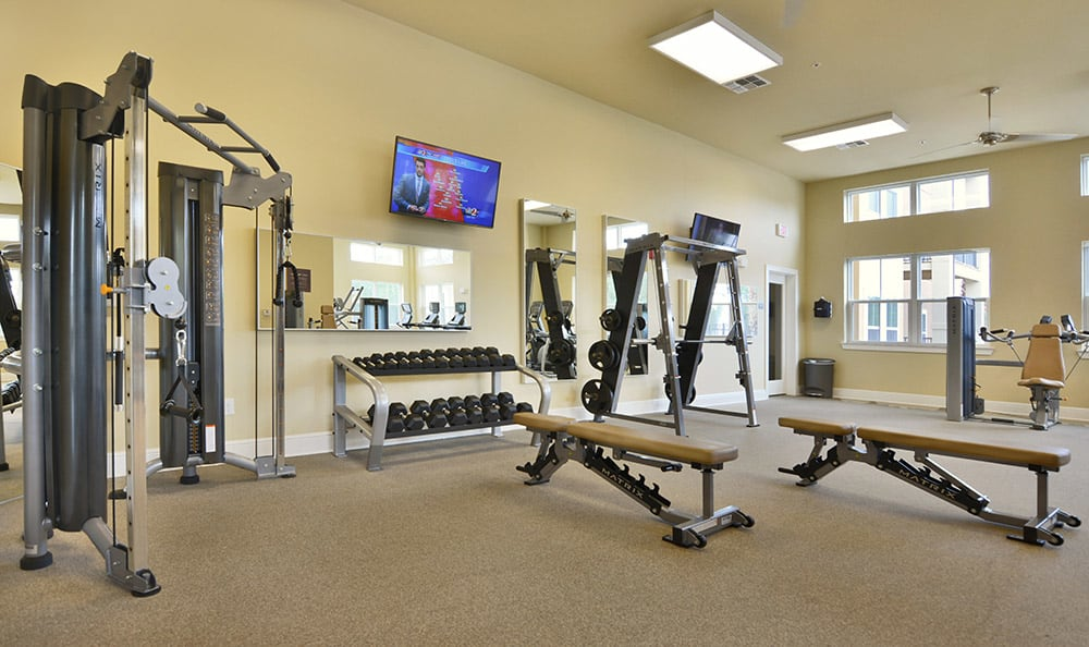 The Gate Apartments's fully equipped fitness center