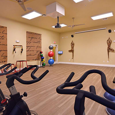 Utilize our virtual training classes to stay fit at The Gate Apartments