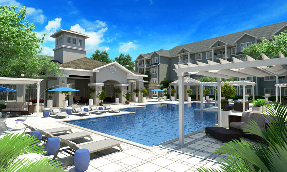 High End Swimming Pool At The Avenue Apartments