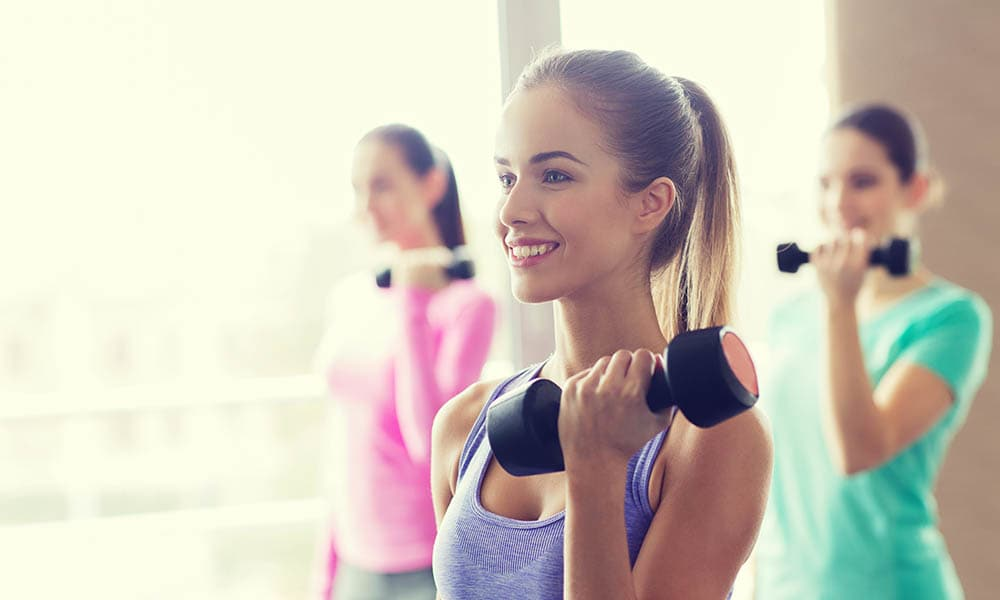 Women Working Out In Gym At The Avenue Apartments
