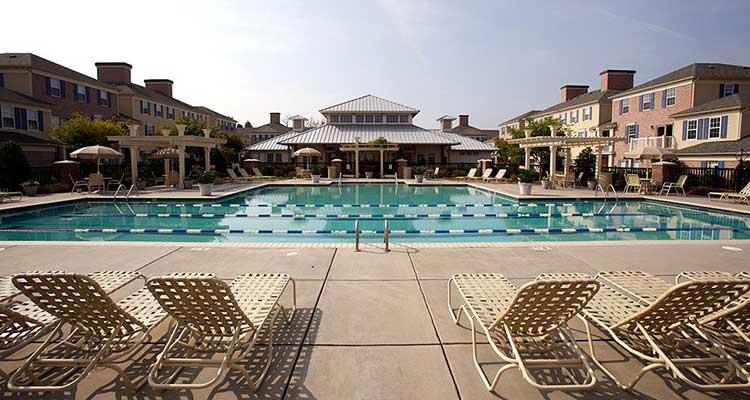 Swimming laps at Atkins Circle Apartments