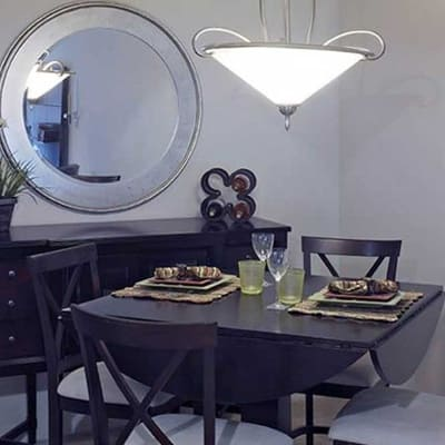 Dining table at Park Towers Apartments