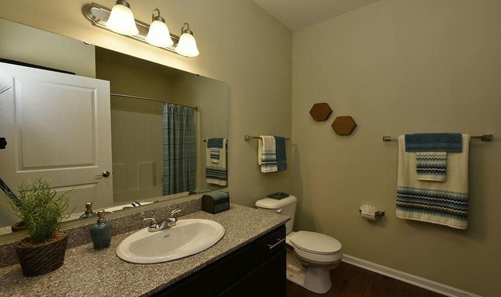 Bathroom at Overlook Apartments