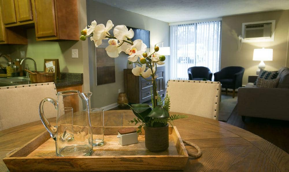 Elegant dining room at Oakwood Village apartments