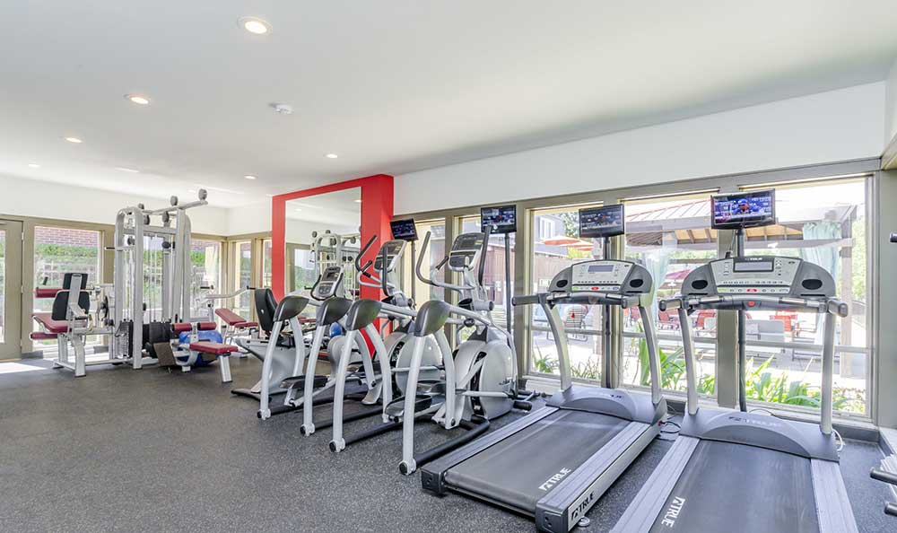 Fitness center at One Hundred Chevy Chase