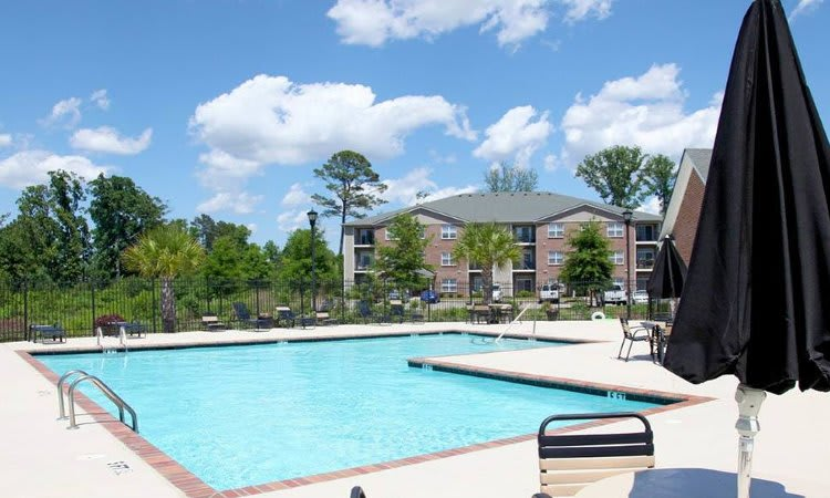 Sparkling swimming pool at Overlook At Golden Hills in Lexington, SC