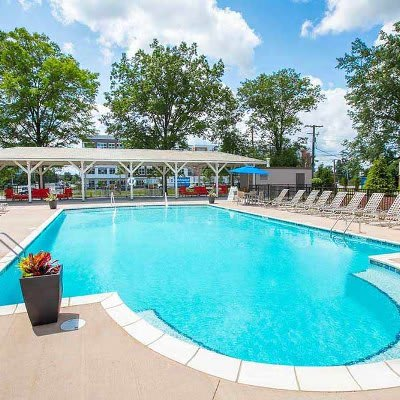 Refreshing swimming pool at Deville Apartments in Beachwood