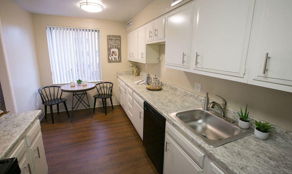 Kitchen at Deville Apartments