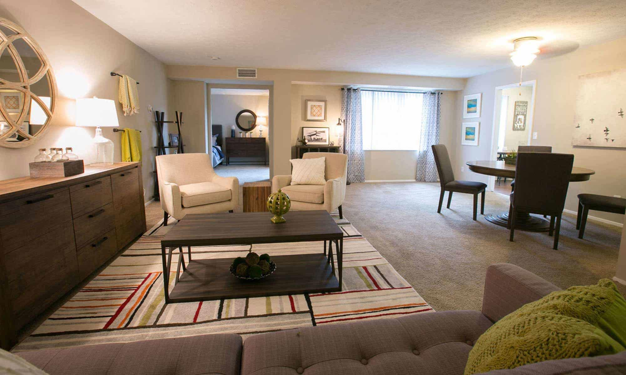 Open floor plans available at Deville Apartments