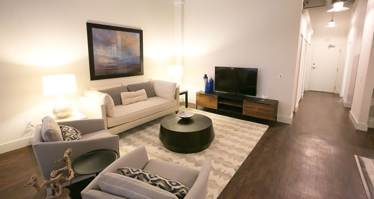 Enjoy a luxury living room at The Archer
