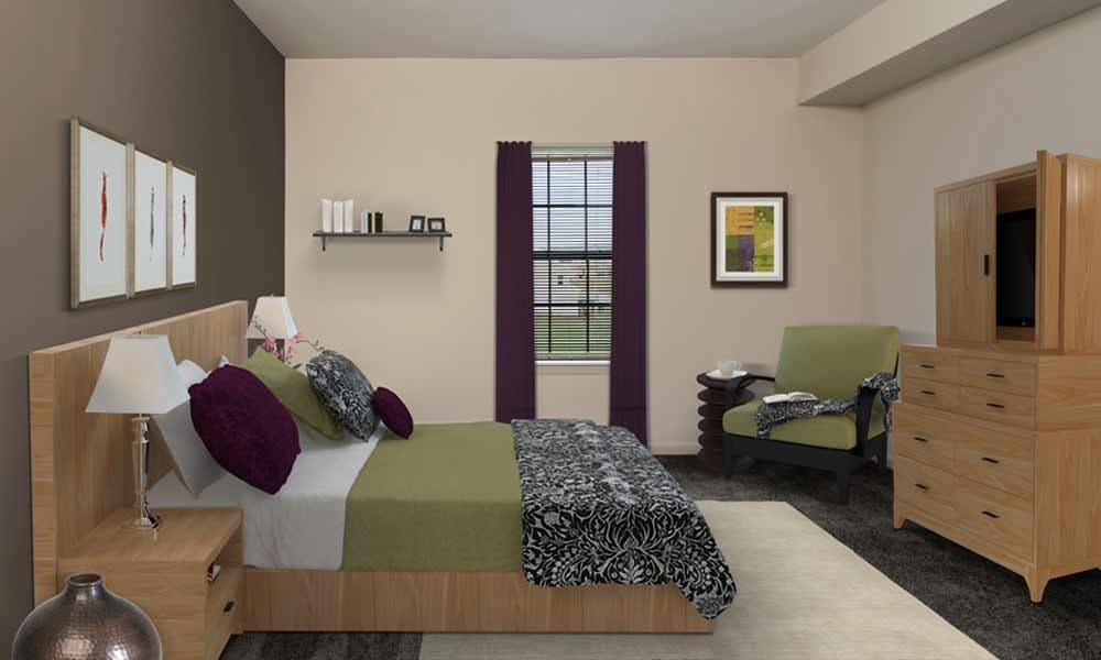 Eden Square Apartments example bedroom in Cranberry Township