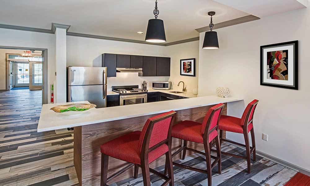 Great clubhouse amenities at Eden Square Apartments