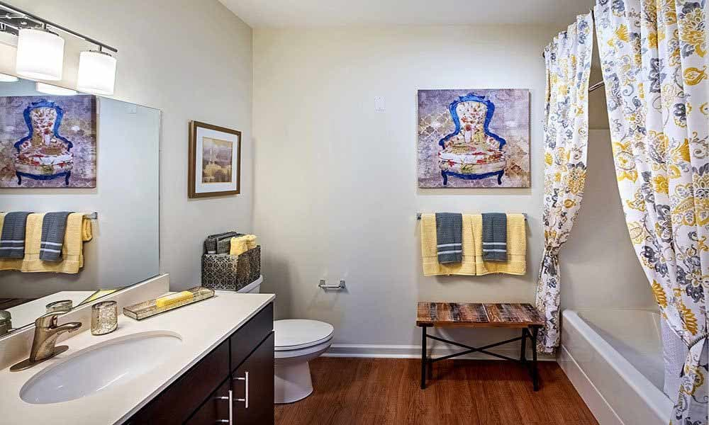 Bathroom at Eden Square Apartments