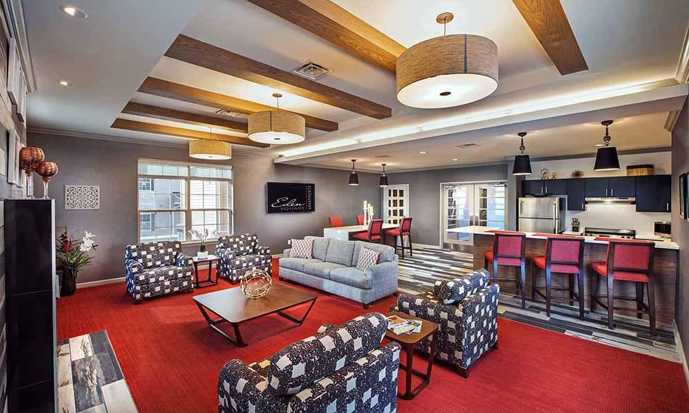 Enjoy our community amenities at Eden Square Apartments