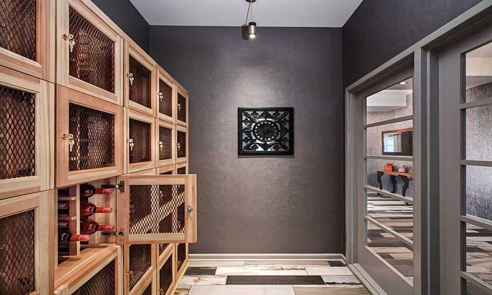 Eden Square Apartments offers wine storage