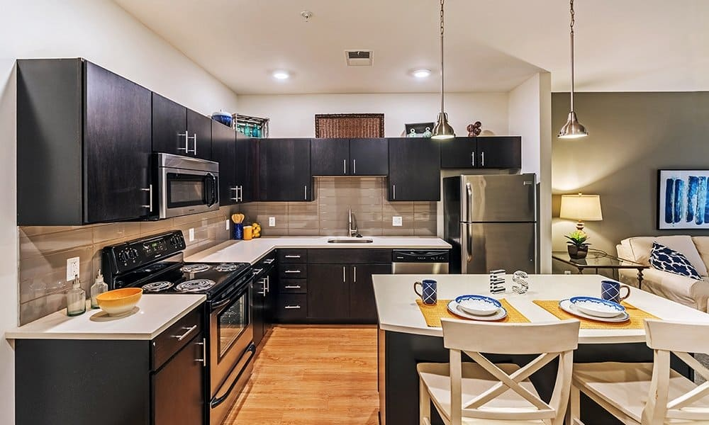 Upgraded kitchen at Eden Square Apartments