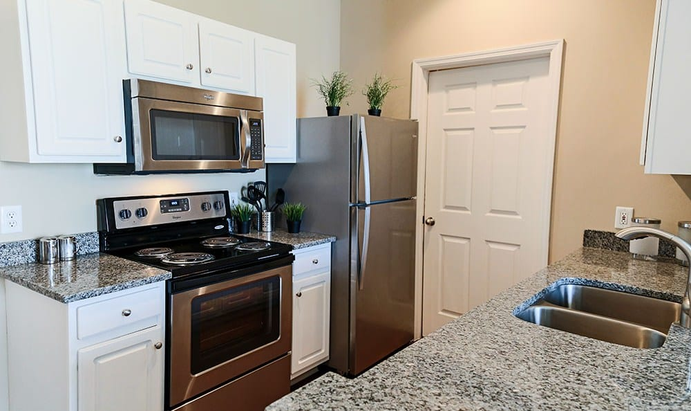 Modern appliances at apartments in West Chester