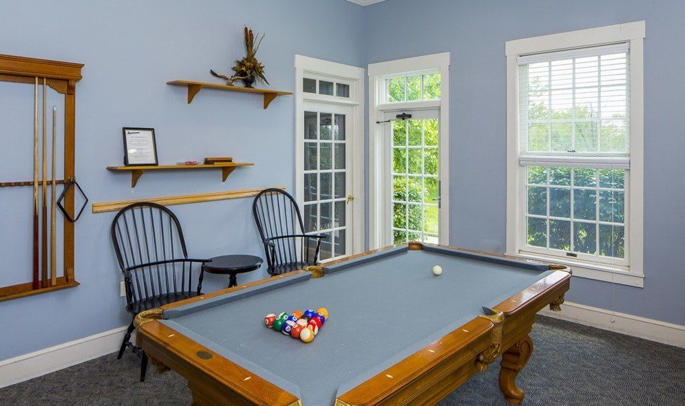 Pool tables amenities at The Preserve at Beckett Ridge