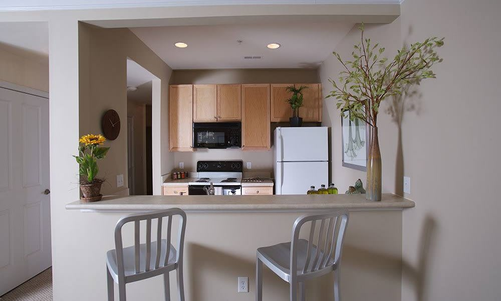 Breakfast bar at apartments to rent in Charlotte, NC
