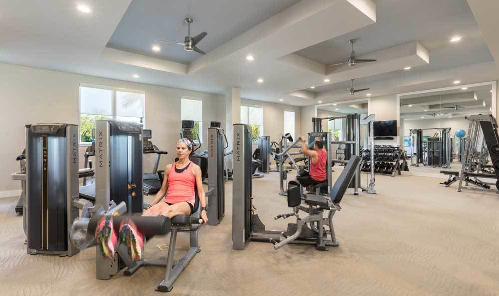 Stay healthy in our well equipped fitness center at CitySide Apartments